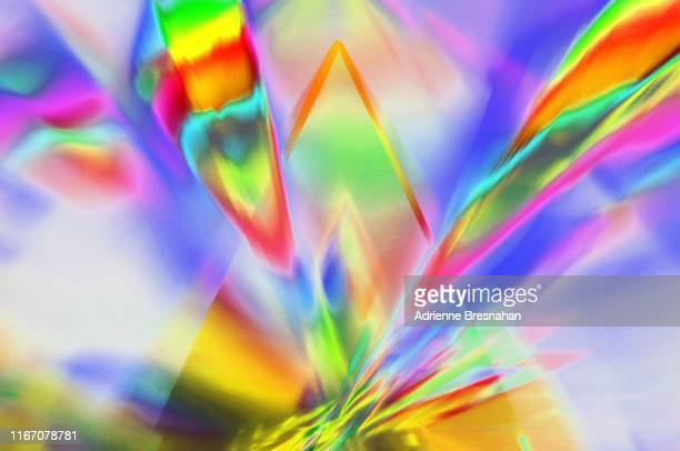 prism spectrum - aura stock pictures, royalty-free photos & images