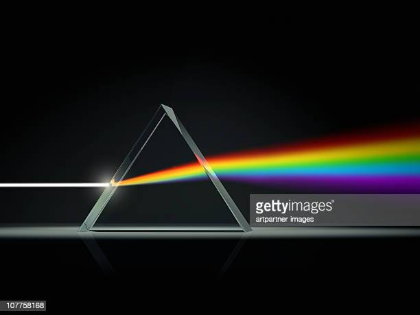 prism splitting light into color spectrum - spectrum stock pictures, royalty-free photos & images