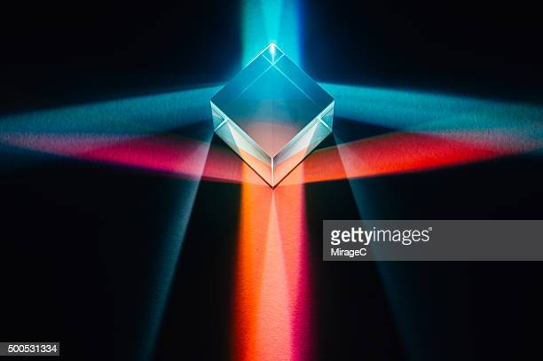 Prism with Colorful Spectrum