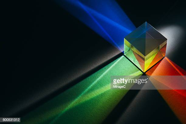 Prism with RGB Color Spectrum