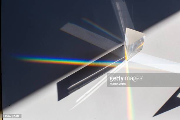 prism with spectrum - refraction stock pictures, royalty-free photos & images