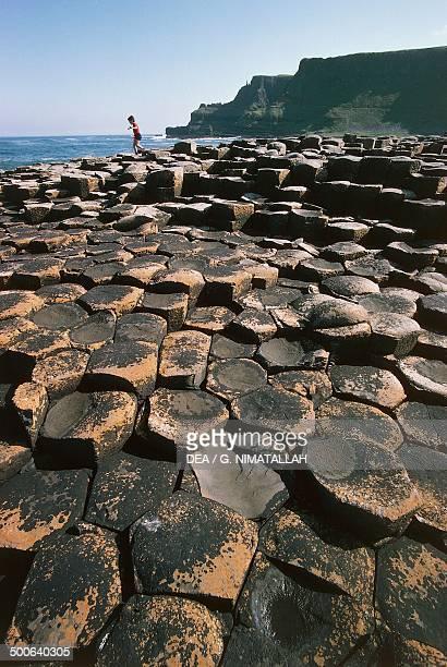 Prismatic basalt columns Giant's causeway Northern Ireland United Kingdom