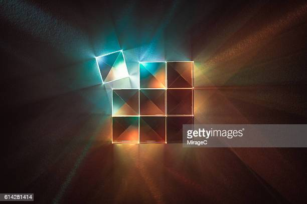 Prisms with Colorful Spectrum