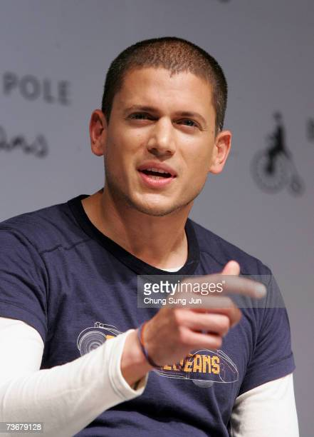 'Prison Break' actor Wentworth Miller appears at a press conference and a fan meeting on March 23 2007 in Seoul South Korea Miller is currently doing...