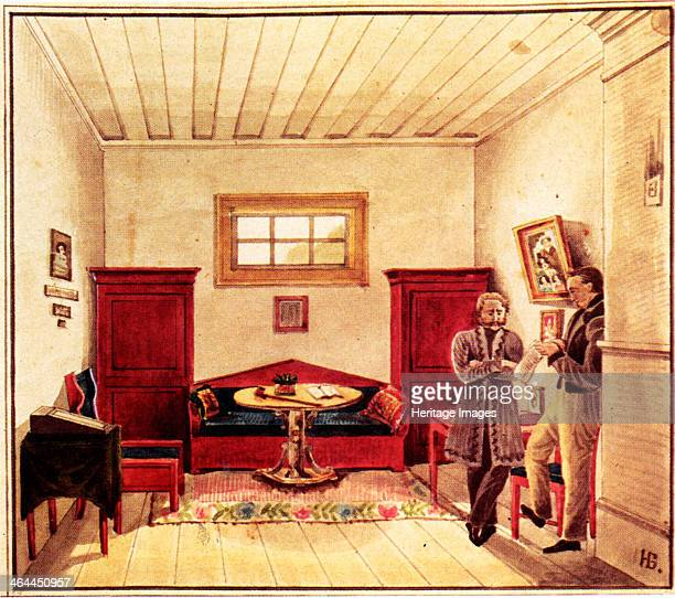 Prison cell of Decembrist Nikolai Panov in the Peter prison 18301839 Found in the collection of the Russian State Library Moscow