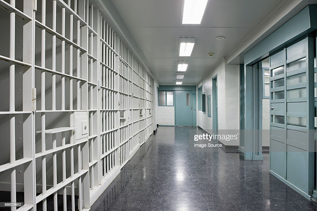Prison corridor : Stock Photo