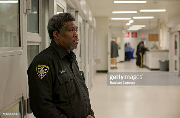 prison guard on duty - prison guard stock pictures, royalty-free photos & images