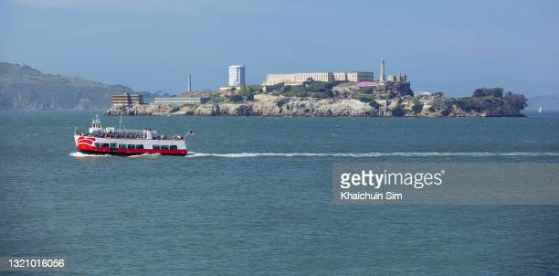 prison of alcatraz island - north beach san francisco stock pictures, royalty-free photos & images