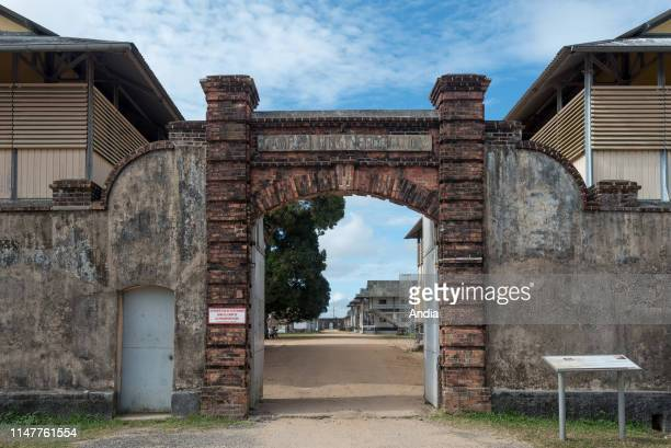 Prison of St-Laurent-du-Maroni, in French Guiana. Entrance to the camp.