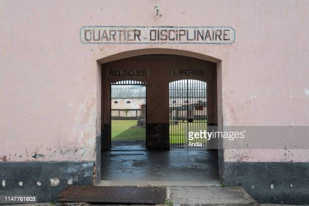Prison of St-Laurent-du-Maroni, in French Guiana. Entrance to the solitary confinement block.