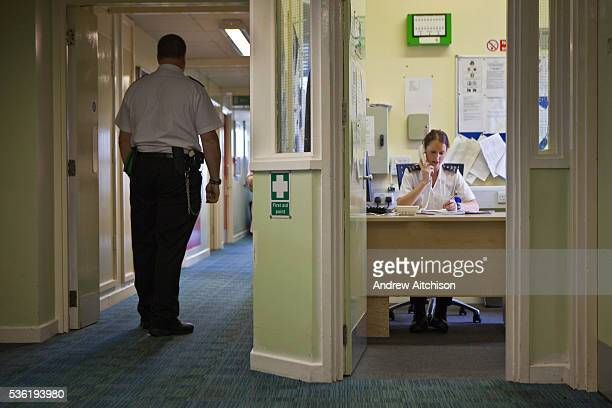 Prison staff on the first night wing at HMP Holloway the main womens prison in London HM Prison Holloway is a closed category prison for adult women...