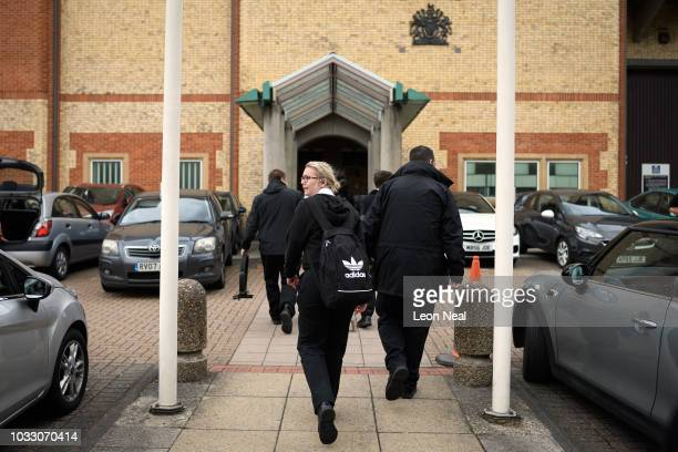 Prison staff return to work inside HM Prison Bedford following an unofficial protest on September 14 2018 in Bedford England The Prison Officers...
