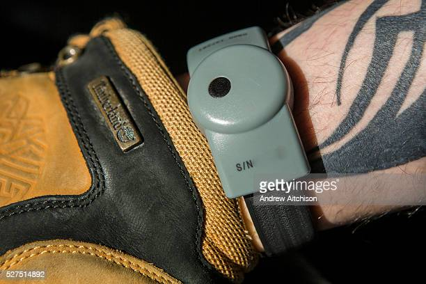 Prison tag on a released prisoner sometimes known as a Rolex. Electronic tags can be fitted to the wrist or ankle, they allow a constant watch to be...