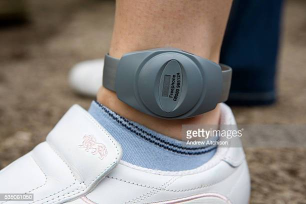 A Prison tag on a released prisoner sometimes known as a Rolex Electronic tags can be fitted to the wrist or ankle they allow a constant watch to be...