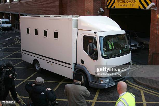 A prison van believed to be carrying Ann Darwin the wife of canoeist John Darwin who turned up after being presumed dead in 2002 from Cleveland...