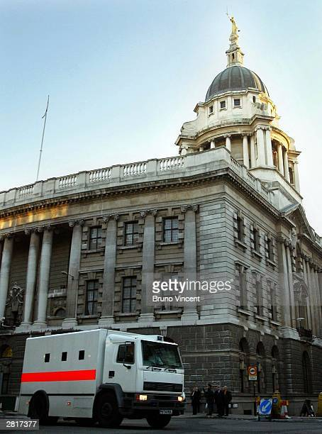 A prison van believed to be carrying either Ian Huntley or Maxine Carr leaves the Central Criminal Court December 17 2003 in London Huntley was give...