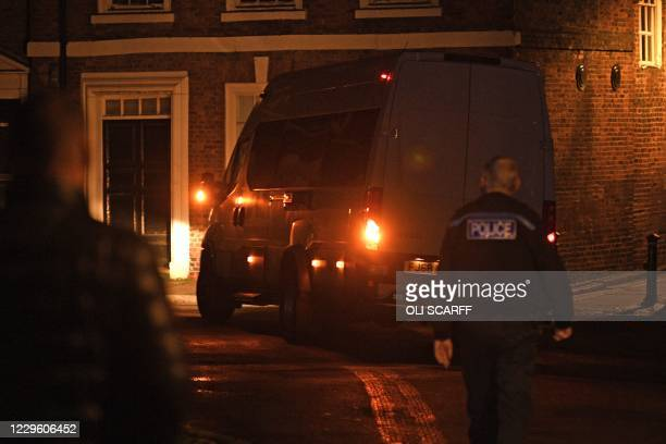 Prison van, containing Lucy Letby, a British nurse charged with the murder of eight babies at a hospital in Chester, leaves Chester Crown Court in...