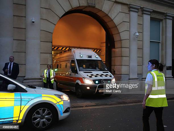 A prison van leaves Bristol Crown Court on November 11 2015 in Bristol England Nathan Matthews has been found guilty of the murder of 16yearold Becky...