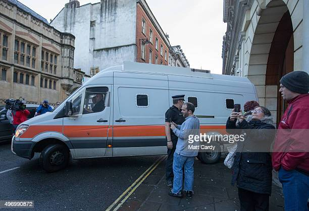 Prison van leaves Bristol Crown Court on November 13, 2015 in Bristol, England. Nathan Matthews was found guilty of murder of killing 16-year-old...