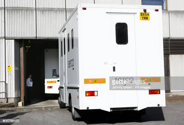 Prison vans arrive at Redbridge Magistrates Court in Redbridge, north-east London. Jack Tweed was today charged with one count of rape, Scotland Yard...