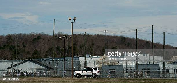 Prison vehicle sgtands outside the U.S. The Federal Bureau of Prisons Correctional Complex, where convicted Israeli spy Jonathan J. Pollard is...