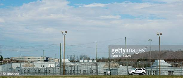 Prison vehicle sits outside the U.S. The Federal Bureau of Prisons Correctional Complex, where convicted Israeli spy Jonathan J. Pollard is housed,...