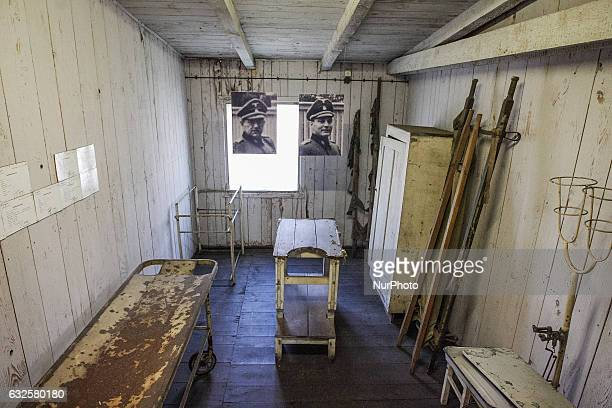 Prisoner barrack interior is seen in former Nazi German Concentration Camp Stutthof on 17 March 2012 in Sztutowo Poland Stutthof was the first Nazi...