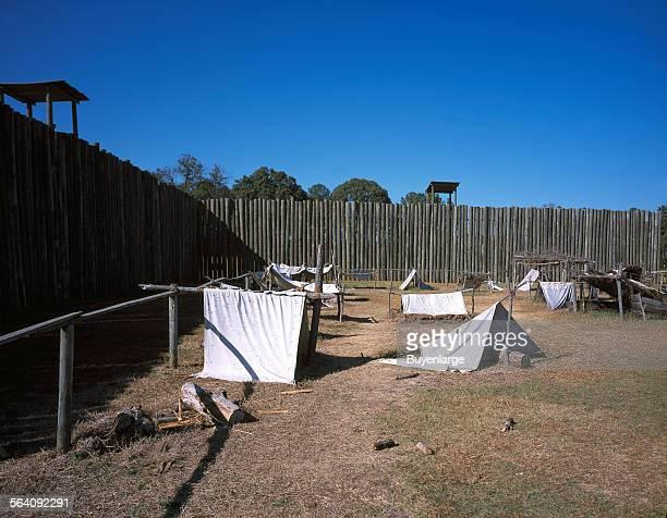 Prisoner leantos at Andersonville Prison Andersonville Georgia