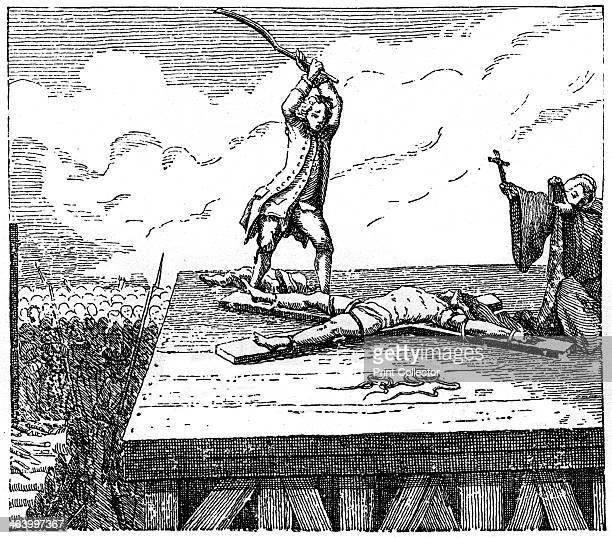 Prisoner Receives Torture Based on a popular print from 'Details of true historical crimes and atrocities' c18th century