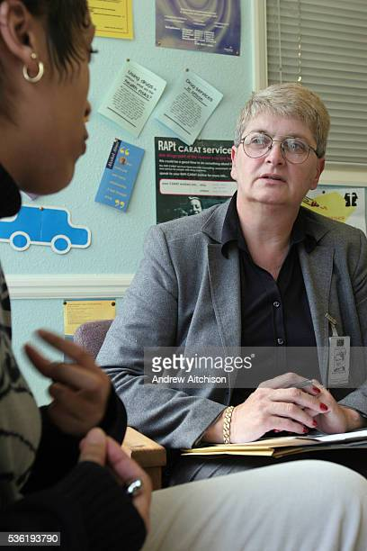 A prisoner talking with the drug councellor at HMP Downview HM Prison Downview is a women's closed category prison Downview is located on the...