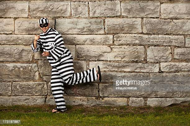 prisoner trying to escape - prison escape stock pictures, royalty-free photos & images
