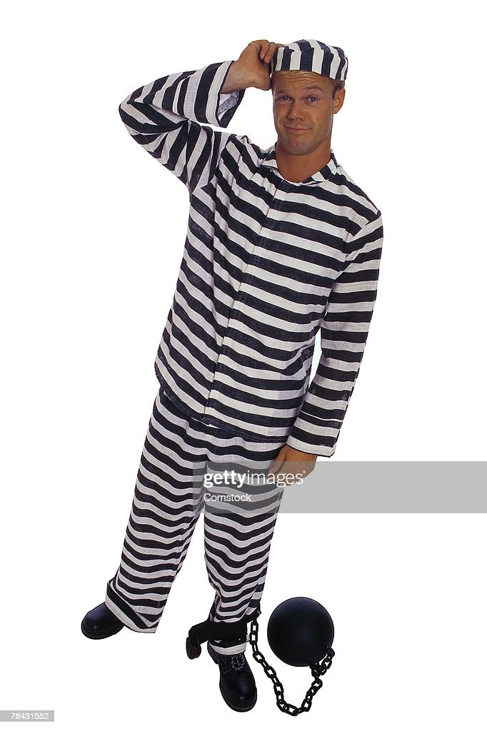 prisoner with ball and chain stock photo getty images