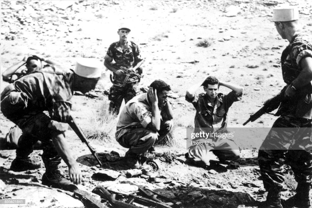 F.L.N. (National Liberation Front) prisoners captured by the Foreign Legion : News Photo