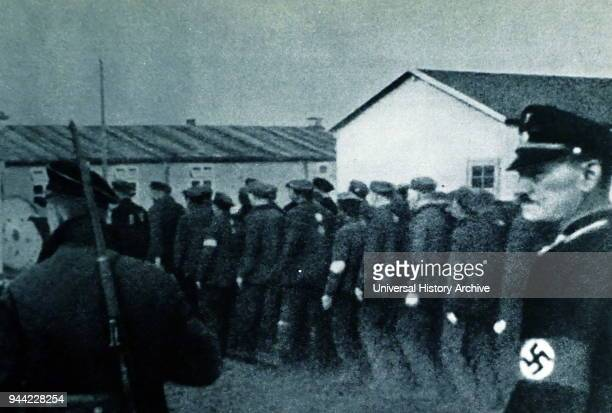 Prisoners enter Dachau concentration camp in 1933 Dachau was the first of the Nazi concentration camps opened in Germany intended to hold political...
