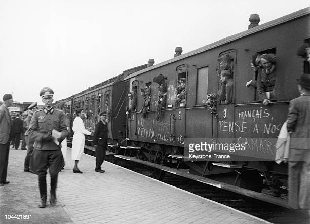 Prisoners From Germany Arrival In Compiegne Station In 1942