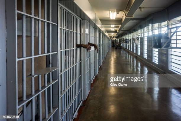 PRISON LOUISIANA OCTOBER A prisoner's hands inside a punishment cell wing at Angola prison The Louisiana State Penitentiary also known as Angola and...