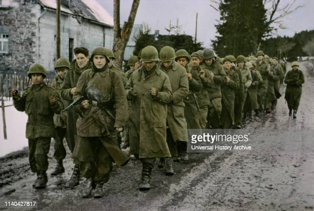 U S Prisoners of the Enemy Taken during Early Fighting ArdennesAlsace Campaign Battle of the Bulge 1945