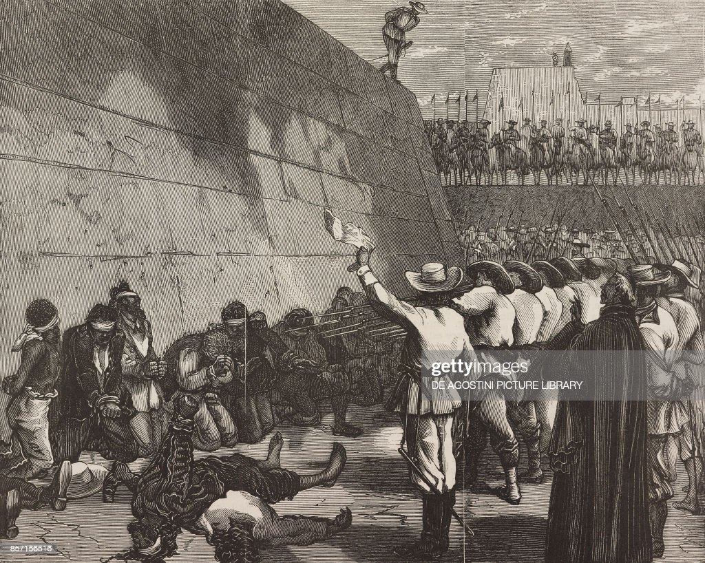 Prisoners, ship Virginius, shot Santiago de Cuba : News Photo