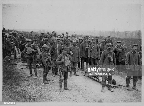 Prisoners of war captured during the Battle of the Somme France circa 19141918
