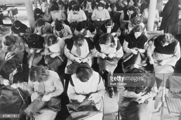 Prisoners sewing mailbags at Holloway Prison north London March 1947 Built in 1852 HM Prison Holloway became a femaleonly prison in 1903 Original...