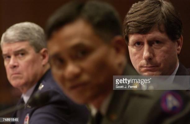 Lt. Gen. Lance L. Smith, deputy commander, U.S. Central Command ; Stephen A. Cambone, undersecretary of Defense for intelligence ; and Maj. Gen....