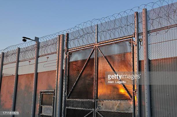 prison,jersey. - barbed wire stock pictures, royalty-free photos & images
