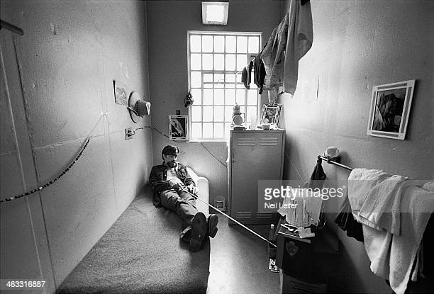 The Inmate Nation Portrait of Charles Manson in his cell at California Medical Facility Vacaville CA CREDIT Neil Leifer