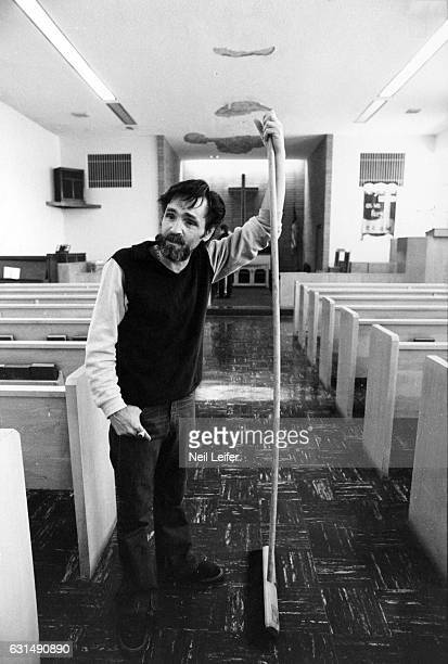The Inmate Nation Portrait of Charles Manson posing in chapel during photo shoot at California Medical Facility Vacaville CA CREDIT Neil Leifer