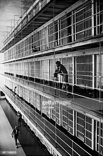The Inmate Nation View of inmates along cell block at United States Penitentiary Leavenworth Leavenworth KS CREDIT Neil Leifer