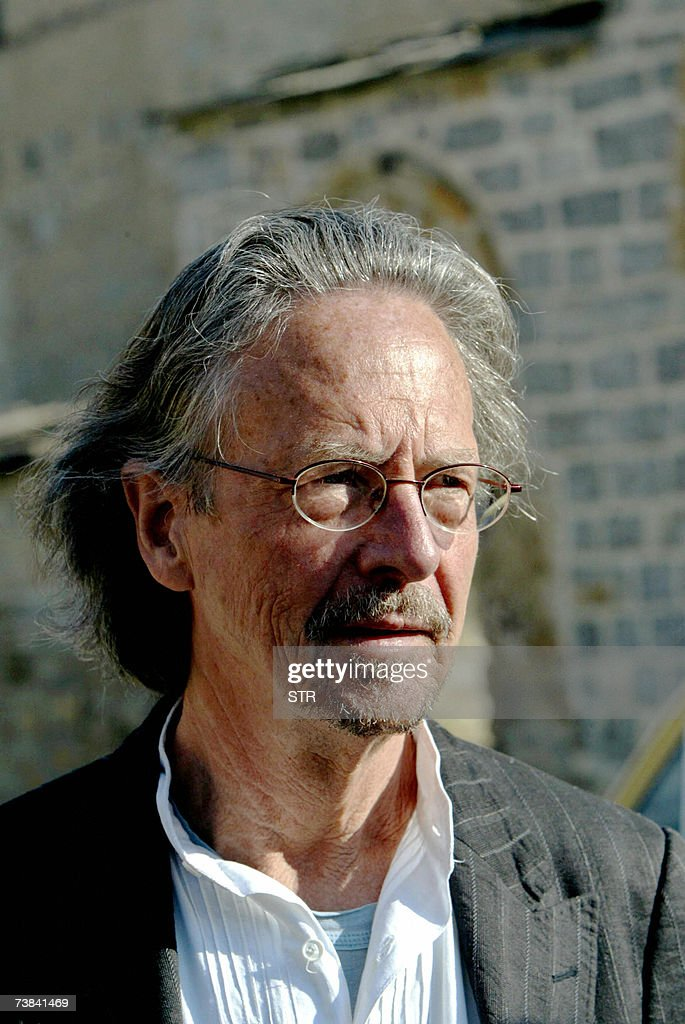 Austrian author Peter Handke visits the Serb Orthodox Church of Sveti Stefan in the village of Velika Hoca, some 60km west from Pristina, 08 April 2007. Handke visited Kosovo where he donated 50,000 euros to the people of Serbian enclave Velica Hoca.