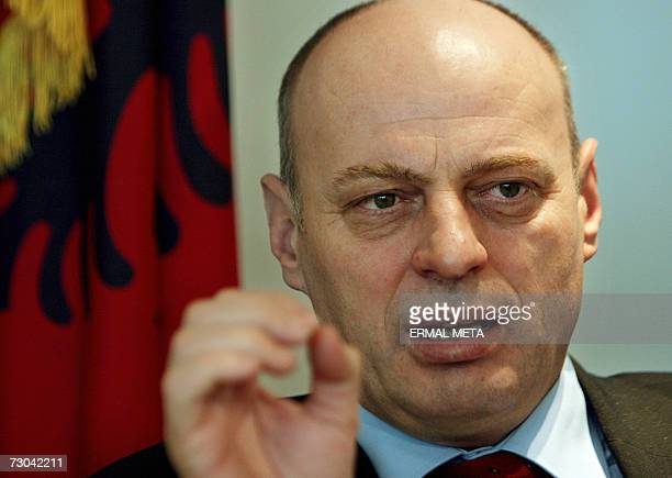 TO GO WITH AFP STORY Kosovo Independence to have positives for Serbs Kosovo Prime Minister Agim Qeku speaks to an AFP journalist during an interview...