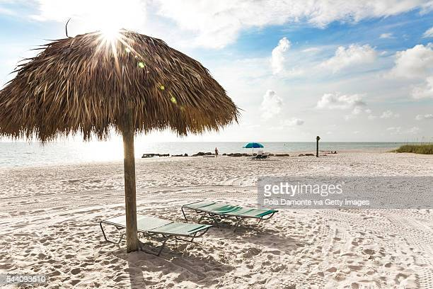 Pristine and idyllic beach in a bright day, Naples, Florida, USA