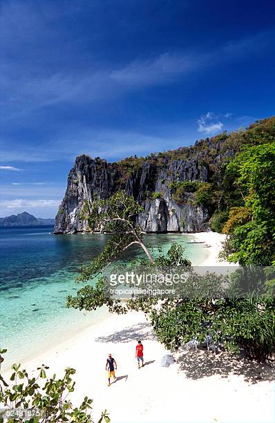 Pristine beach in Palawan