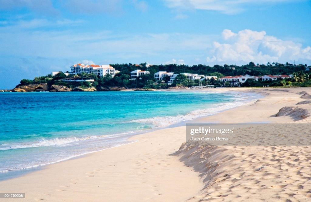 Pristine beach of Anguilla. : Stock Photo